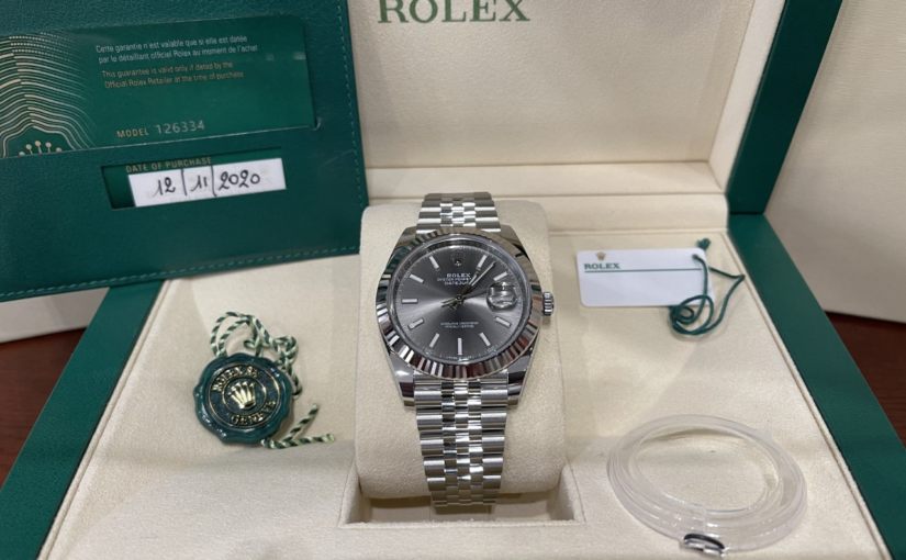 ROLEX DATE JUST 126334 FULLSET RHODIUM CANELE JUBILE 2020